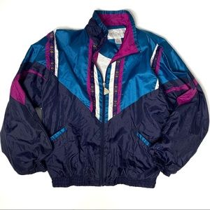 Vintage Wilson Windbreaker zip up jacket